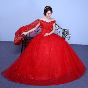 Vestido De Noivas Plus Size Luxo Promoção Vermelho Ou Branco