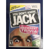 Wii Fisico You Don´t Know Jack - Usado