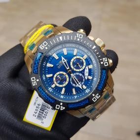 Relógio Invicta Pro Diver 24856 Original 51mm B.ouro Azul