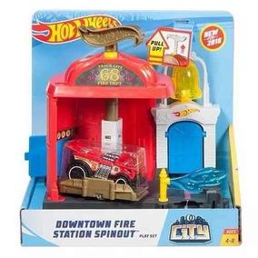 Pista Hot Wheels Manobra No Corpo De Bombeiros Mattel Fmy96