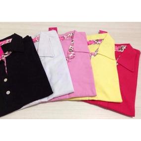 Kit Atacado 6 Camisas Polo Feminina Camiseta Blusa Babylook