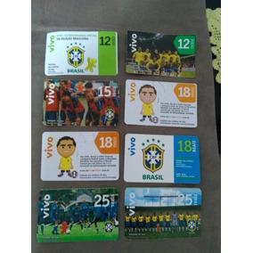 Cartões Da Vivo Selecão Brasileira - Uso Colecionador