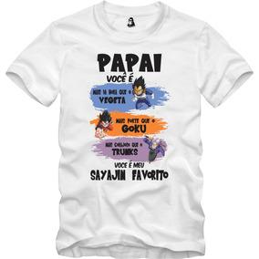 Camisa Goku Frase Dia Dos Pais Camisetas E Blusas No Mercado Livre