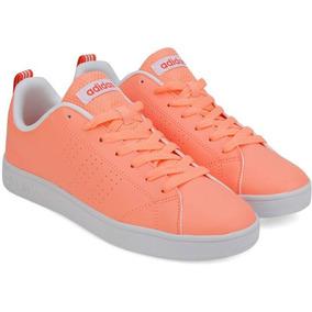 Tenis adidas Vs Advantage Clean Mujer - Naranja B74578