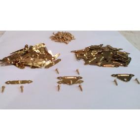 Fecho Dourado Tipo Concha C/furo 2,2mm Para Artesanato 500un