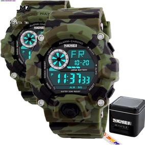 Relógio Skmei 1019 Camuflado Na Caixa Original.