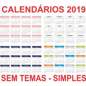 Templates Calendários 2019 Modelos Sem Tema Pronto Para Uso