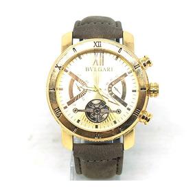 ece1d9e8aa1 Bvlgari Sotirio Couro Marrom Detalhes Masculino - Relógios De Pulso ...