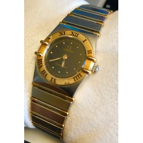 2a7e62369bf Omega Relógio Feminino Constelação Aco  Ouro 18k Quartzo