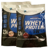 Whey Isolado 5w 2.1kg Mat Imp. Health Time Kit C/ 2 Unidades