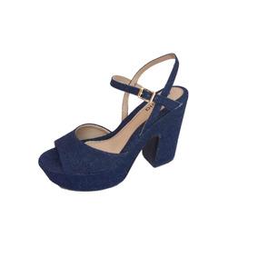 Sandalia Jeans Plataforma Meiapata Azaleia 3td1
