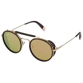 Óculos De Sol Furla Sfu216 300g/51 Marrom/dourado
