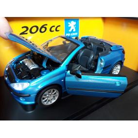 Miniatura Peugeot 206 Cc Conversível Na Cx 1/18 Gate Raro