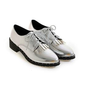 c9764155a673e Zapatos Vintage Oxford De Mujer Plateados - Ropa y Accesorios en ...