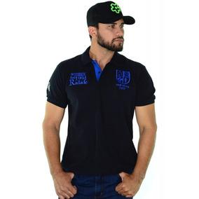 Camisa Polo Radade Classic City Azul Marinho Com Azul Claro f3da93ff60ec3