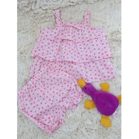 Conjunto Importado Infantil Blusa Short Feminino 18 Meses