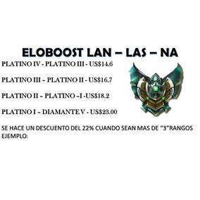 Elo Boost, League Of Legends Lan - Las - Na Platino