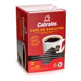 Cafe En Saquitos Cabrales X20 Sobres X5g Instantaneo