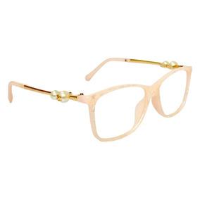 2df62ee82da77 Armação Oculos De Grau Chanel Pérola 58593-3 Frete Gratis