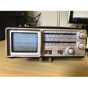 Tv Rádio Broksonic Cirt-2097 Analógico Portátil Antigo