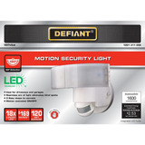 Defiant 180 Grados Led Motion Luz De Seguridad Color Blanco
