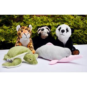 Combo 5 Peluches Wwf Jaguar Oso Delfin Tortuga Donación Mín
