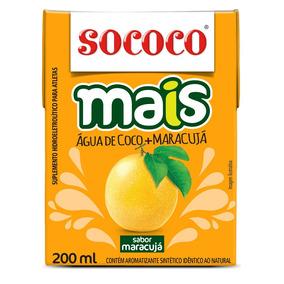 Agua De Coco+maracuja Sococo 200ml Kit Com 24 Unidades