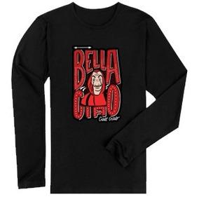 Camisa Camiseta Manga Longa La Casa De Papel Bella Ciao bec9bcd40fa