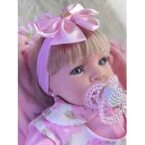 Bebe Baby Reborn Loira+canguru+mega Promoção Barata Rf