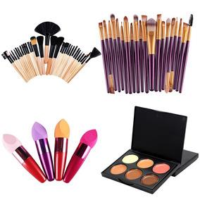 Kit De Pinceis 32 Pinceis Roxo - Maquiagem no Mercado Livre Brasil 617bad7fa1