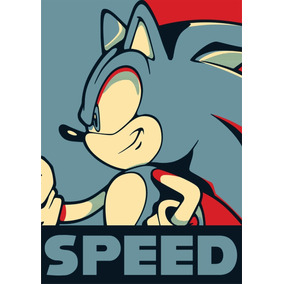 Poster Sonic Hedgehog Sega Mega Drive Genesis