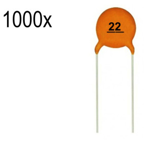 1000 Capacitor Cerâmico 22pf 50v 22 Pf 50v 50 V Arduino Pic