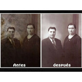 Restauracion De Fotos Dañadas - Retoque Digital De Imagenes