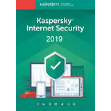 Antivirus Kaspersky Internet Security 2019 3 Usuarios 1 Año