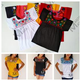 c83b35daee Blusas Hermosas De Manta Bordadas A Mano en Mercado Libre México