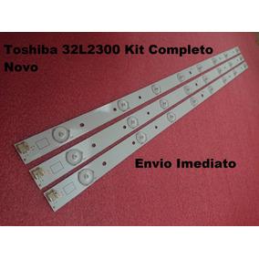 Barra Led Toshiba 32l2300 Kit Com 3 Barras