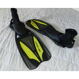 Nadadeira Mergulho Scubapro Jet Sport E Bota Neoprene Cressi