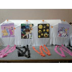 Barrilete Artesanal Con Figuras Originales De Disney