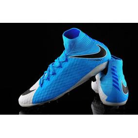 Botines Nike Hypervenom Celeste Y Blanco - Botines en Mercado Libre ... ae92bba139727