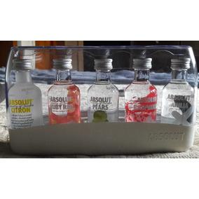 Vodka Absolut X 5 Botellas C/estuche