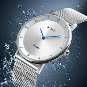 28e0754e9258 Reloj Malla Acero Hombre Elegante Moda Mujer Contra Agua Sm