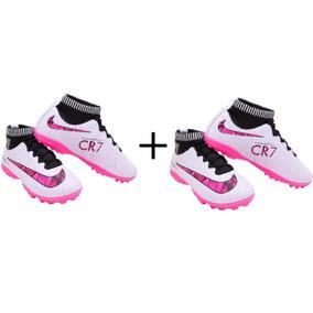 674b781263 Chuteira Society Nike Cr7 - Chuteiras para Society Rosa no Mercado ...