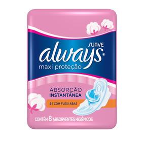 Absorvente Always Proteção Total Suave Com Abas - 8 Unidades