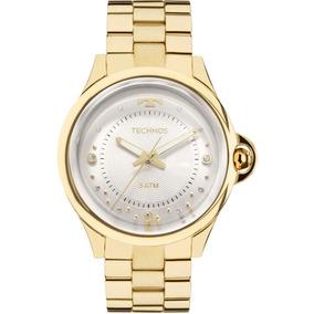 1f894ad8d86 Relogio Technos 2035ffb 4k Pulseira Aço Dourada - Relógios no ...