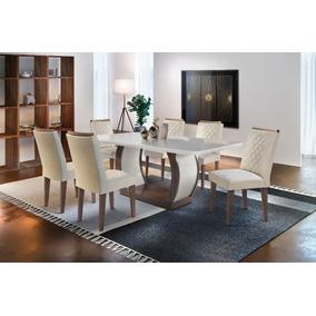 Mesa De Jantar Jade 1,80 X 0,90 C/6 Cadeiras - Rufato