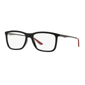 Armação Oculos Grau Ray Ban Rb7061l 5447 54mm Preto Vermelho 79577d0bc9