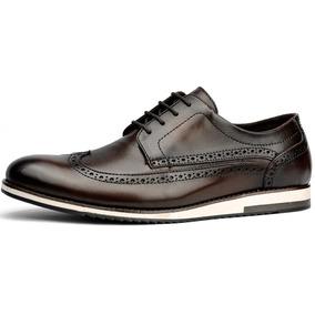 Sapato Social Casual Masculino 100% Couro Oxford Sapatenis