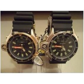 b769e06868a Atlantis Aqualand 2 Janelas Dourado (lindo) - Relógios De Pulso no ...