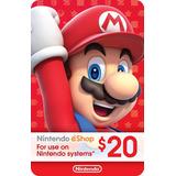 Tarjeta Prepago Nintendo Eshop $20 Switch / Wii U / 3ds