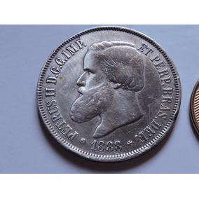 Brasil 2000 Réis 25,5 Gramas Prata 917 1888